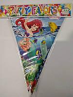 """Гірлянда з трикутних прапорців (двостороння), довжина близько 2,2 м, """"Русалонька"""""""
