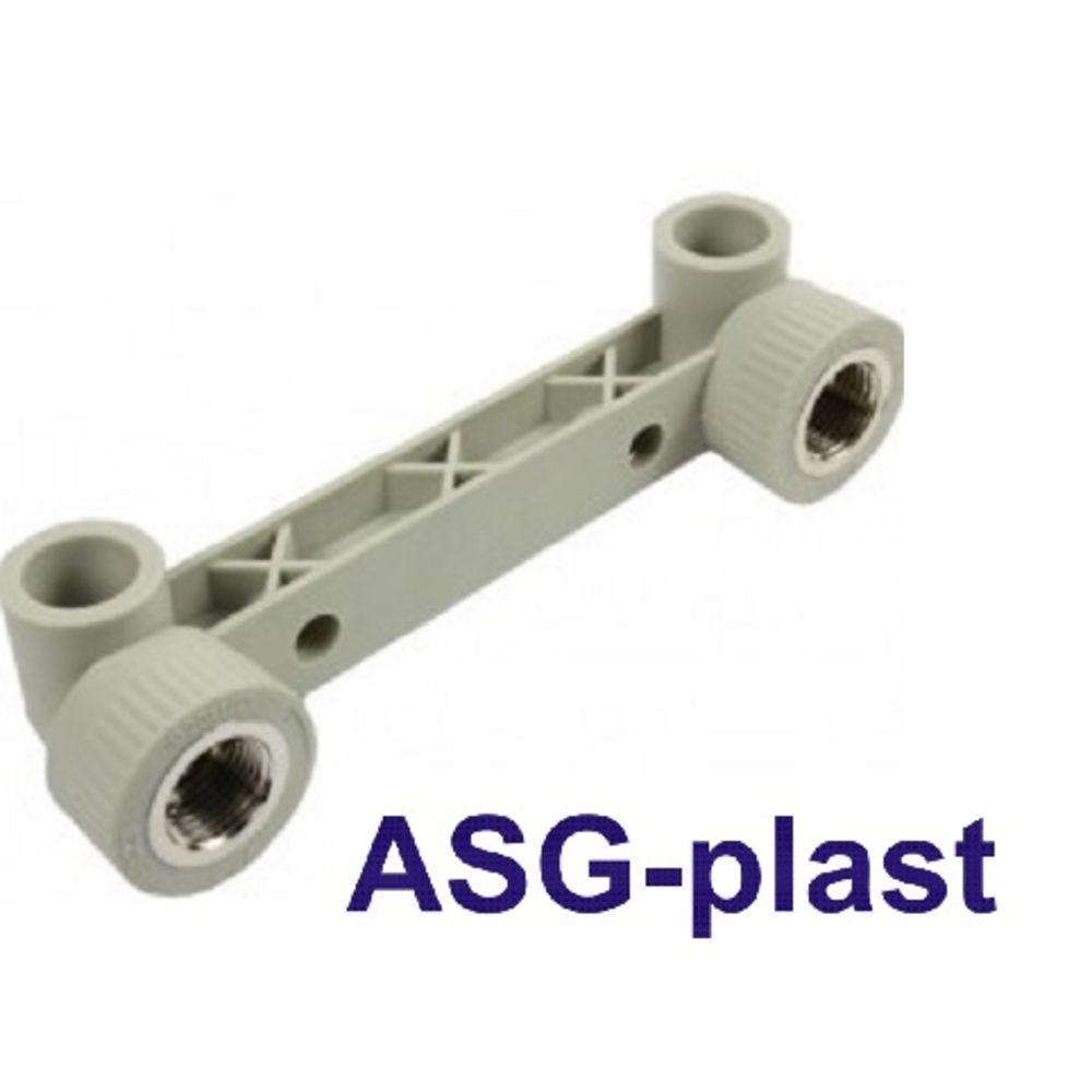 """Настінне коліно подвійне для змішувача ASG 20х1/2"""""""
