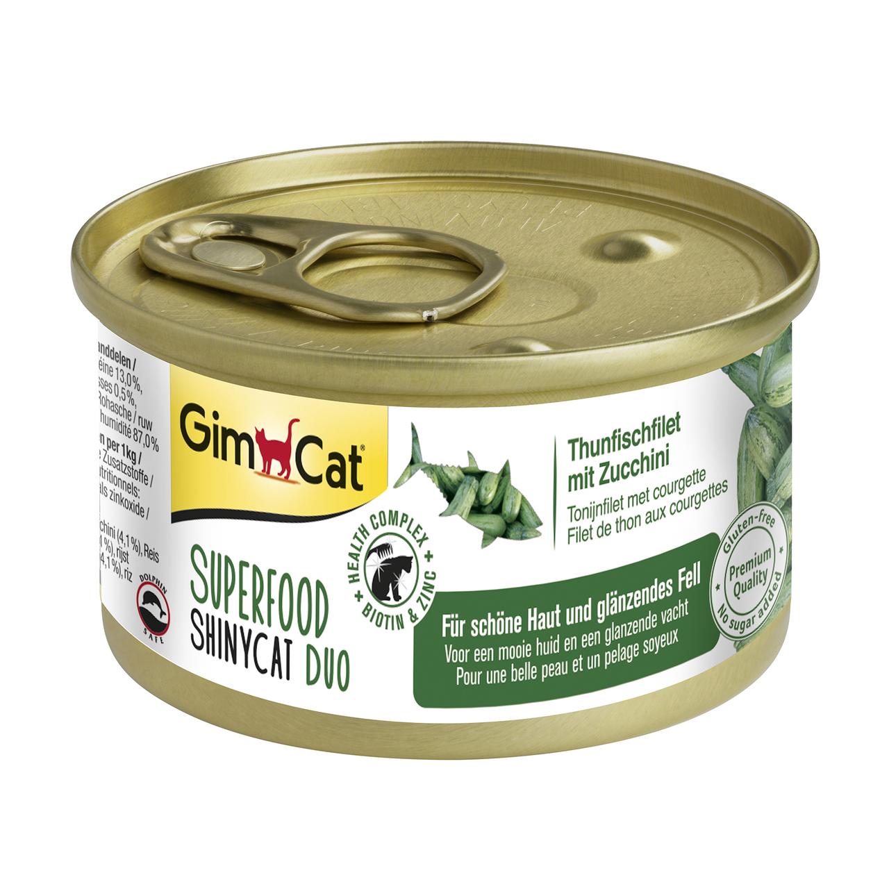 Влажный корм для кошек GimCat Superfood 70 г (тунец и цукини), G-414539