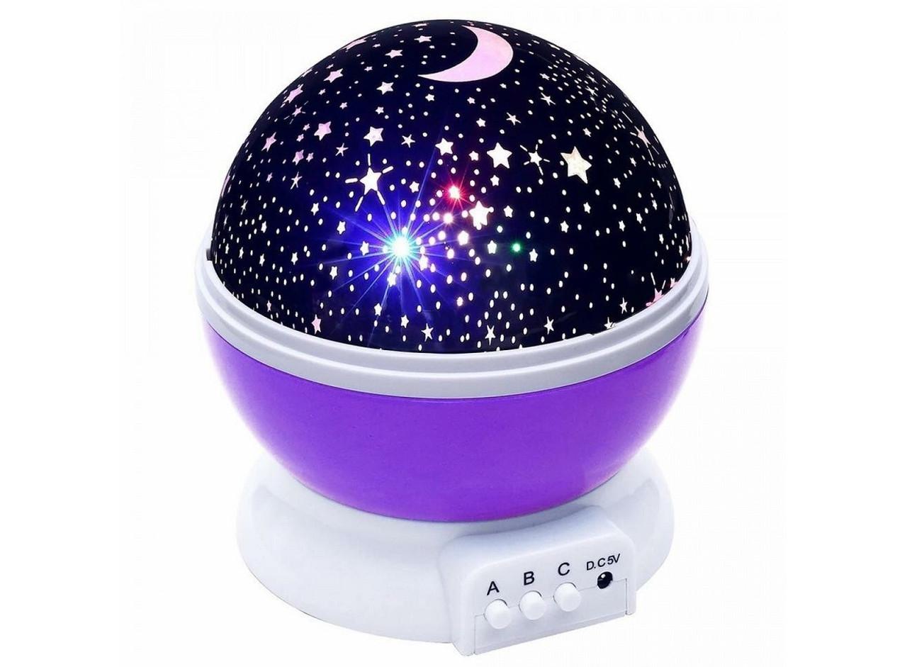 Ночник-проектор звездного неба вращающийся Star Master Dream с USB (Стар мастер), фиолетовый