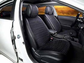 Передние накидки на сиденья Эко велюр черные (2 шт комп.) Car Fashion