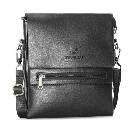 Мужская сумка-мессенджер DIWEILU  3 отделения вертикальная 21х25х9 спилок м 9889-3ч, фото 2