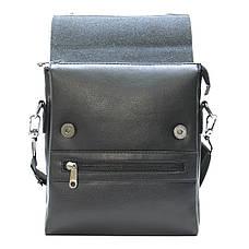 Мужская сумка-мессенджер DIWEILU  3 отделения вертикальная 21х25х9 спилок м 9889-3ч, фото 3