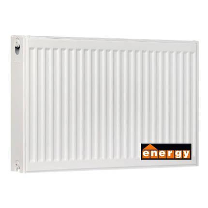 Радиатор стальной ENERGY 22 тип 600x1100 - Нижнее подключение, фото 2