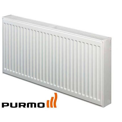Радиатор стальной PURMO Compact Ventil 33 тип 200x1100 - Нижнее подключение, фото 2