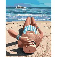 DIY набор Картина по номерам Чудесное лето антистресс раскраска, 40х50см, Без Коробки