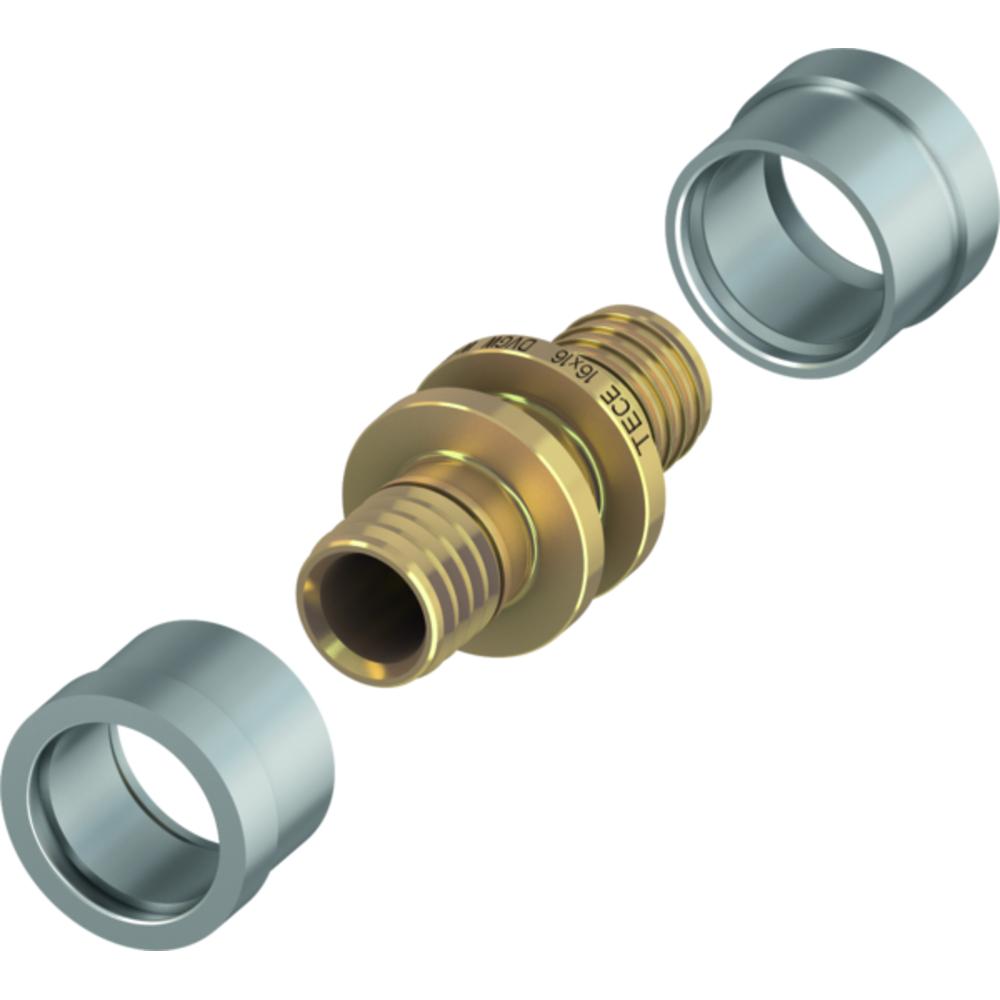 Соединение TECEflex  труба-труба ∅ 20 × 20мм, TECEfloor 77220020
