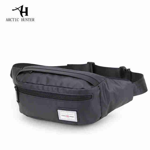 Городская удобная поясная сумка (бананка) из водоотталкивающей ткани Arctic Hunter YB14001, 3л