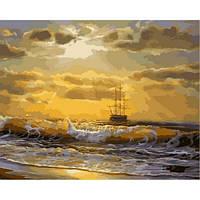 Картины по цифрам Море на рассвете 40х50см, С Коробкой