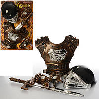 Набор рыцаря JT 339 A 1 (24шт) доспехи, шлем, меч, на листе, 57-38-12см