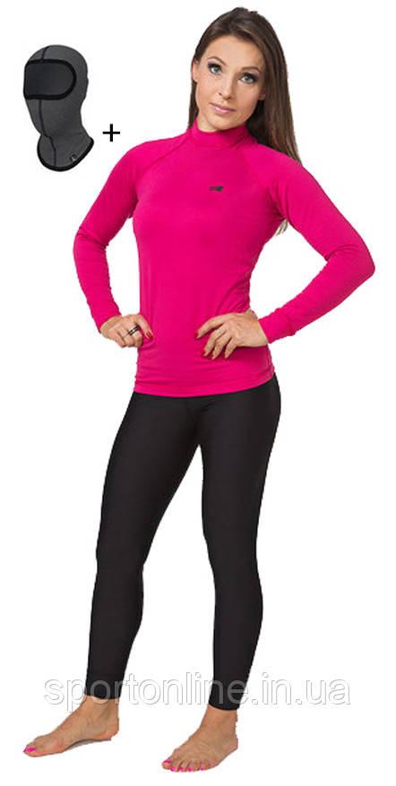 Женское спортивное тёплое термобелье Radical Acres комплект розовый с чёрным