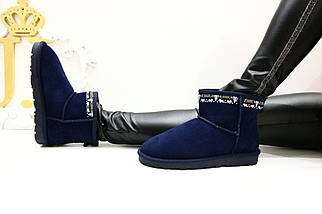 Угги синие замшевые 7-4806 (JJ), фото 2