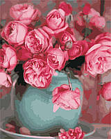 """Картина по номерам """"Розы в вазе"""", отличный подарок, 40 х 50 см, С Коробкой"""