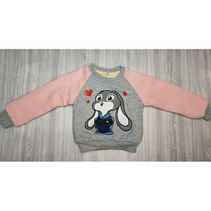 Кофта детская на девочку утепленная  на плюше осень-зима Lola Bunny, фото 2