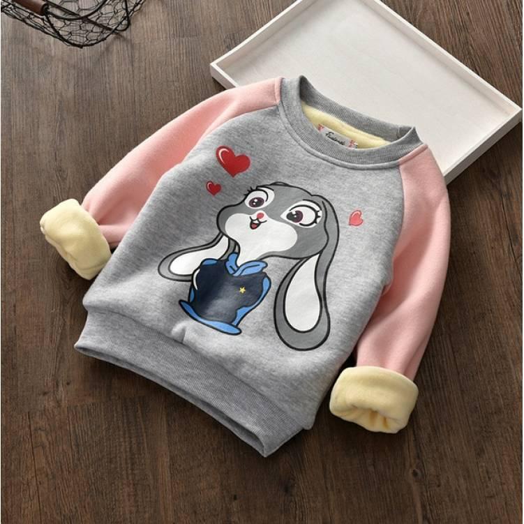 Кофта детская на девочку утепленная  на плюше осень-зима Lola Bunny