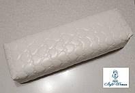 Подлокотник для маникюра подушка из кожзама сердце белый