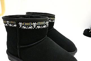 Угги черные замшевые 10-4806 (JJ), фото 3