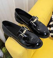 Черные женские лоферы, фото 1