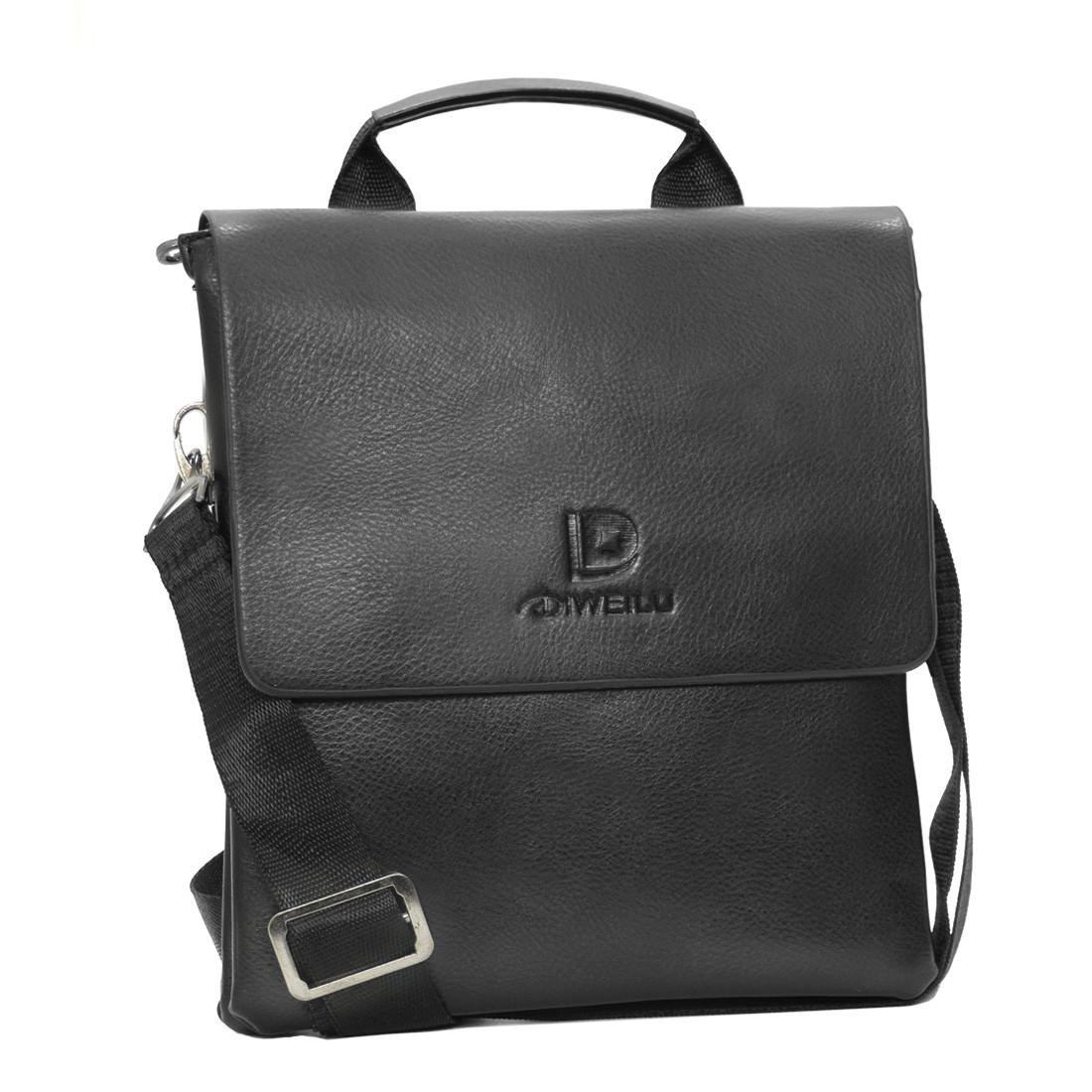 Мужская сумка-мессенджер вертикальная DIWEILU 2 отдела 21х25х6  м 0715-3ч