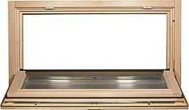 Окно для бани, сауны Tesli Откидное 1000х500х78мм