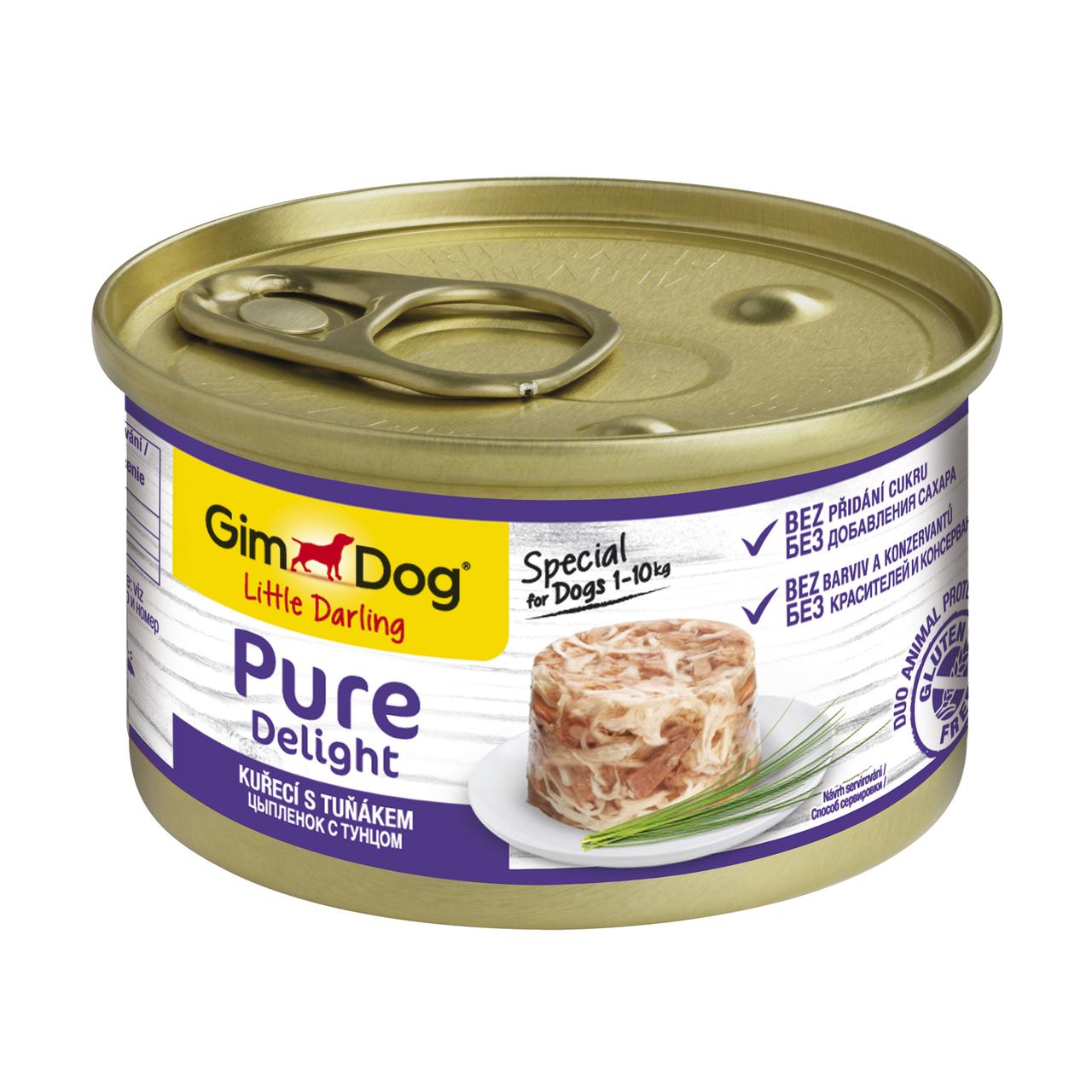 Вологий корм для собак GimDog LD Pure Delight 85 г (курка і ягня)