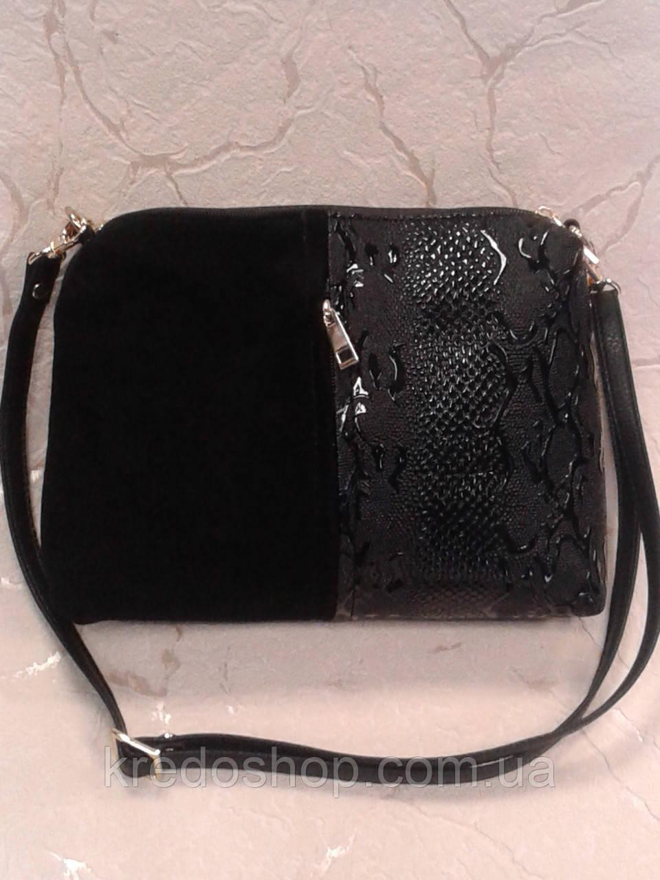8e006f0847fa Женская сумочка-клатч черная замшевая на плечо.: продажа, цена в ...