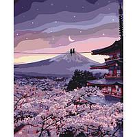 """DIY набор Картина по номерам """"Романтика цветущей сакуры"""" антистресс раскраска, 40х50см, Без Коробки"""