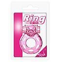 Вибронасодка Vibration and condom ring Bear Pink, фото 6