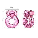 Вибронасодка Vibration and condom ring Bear Pink, фото 8