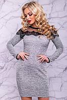 Платье 12-1078- серый: S М L XL XXL, фото 1