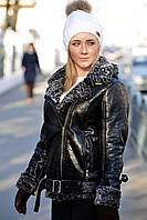 Женская зимняя куртка дубленка косуха