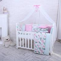 Комплект детского постельного белья Baby Design Flowers цветы (7 эл)