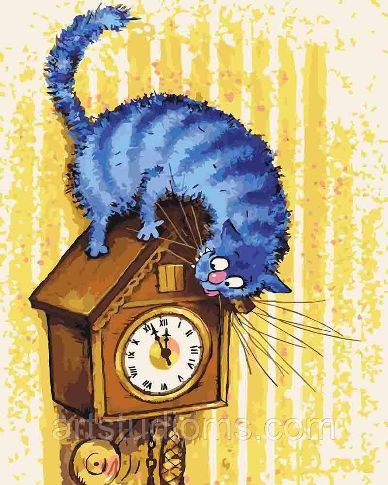Картина по номерам Ночной охотник, отличный подарок, 40 х 50 см, Без Коробки