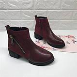 Красные ботинки на каблуках, фото 2