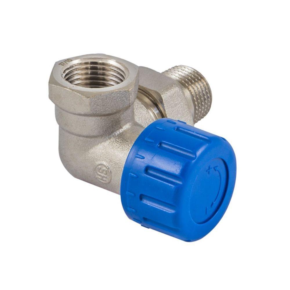 Клапан термостатический DN15 GZ 1/2 x GW 1/2, Фигура осевая-правая, Никелированный 601200006