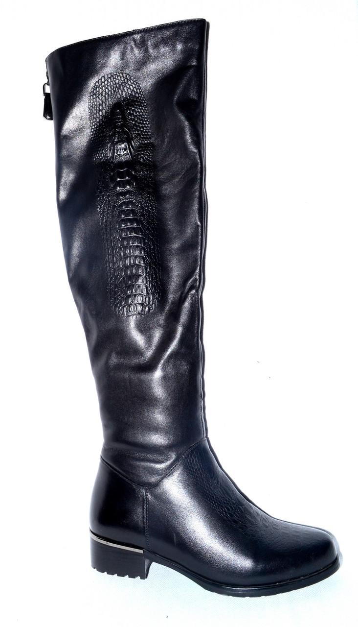 b7033e5ed Новые сапоги ботфорды женские зимние кожаные Posiot, натуральный мех  цегейка со скидкой - Интернет-
