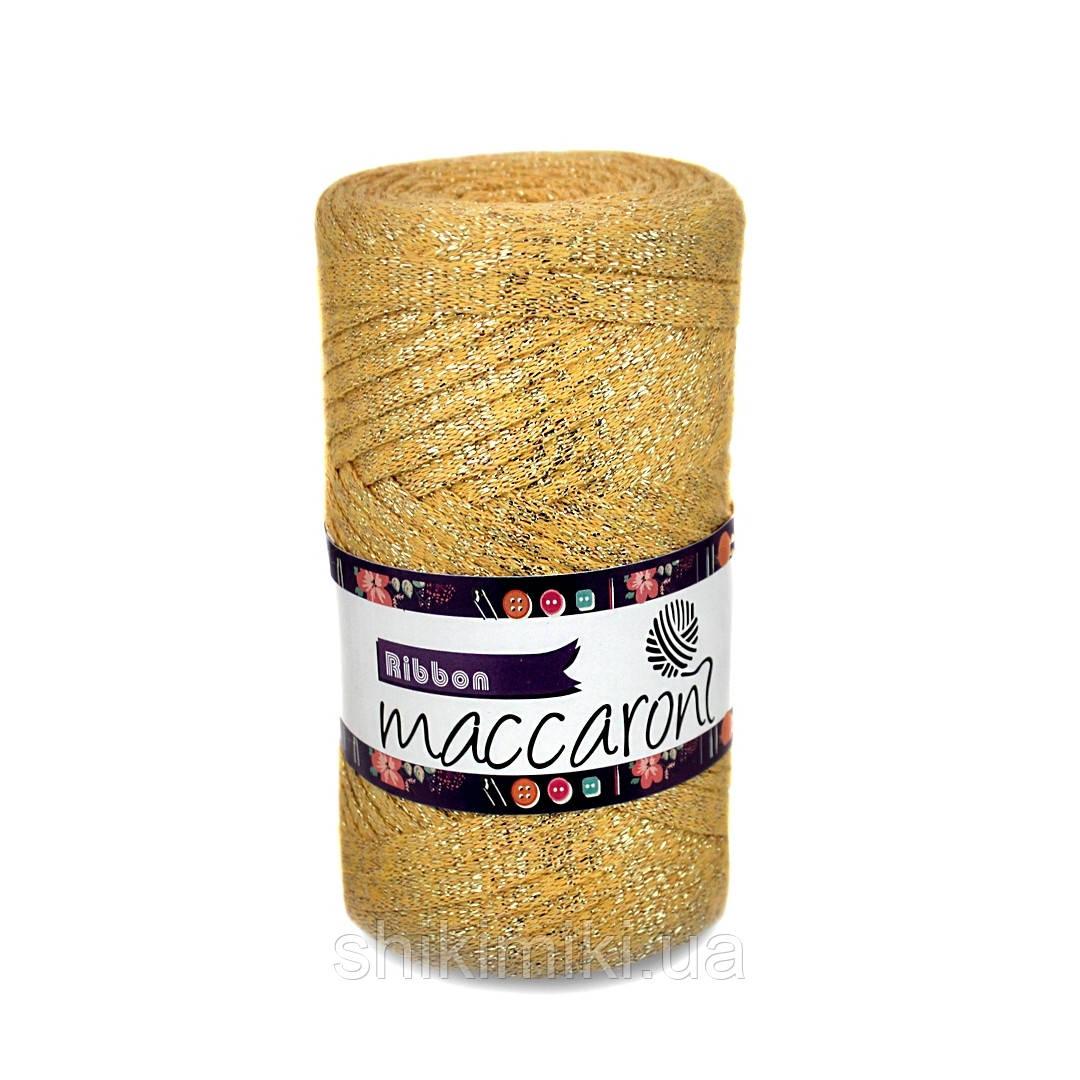 Трикотажный плоский шнур Ribbon Glitter, цвет Золотой