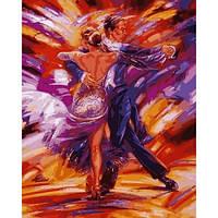 Картина по номерам для взрослых Зажигательное танго 40х50см, С Коробкой