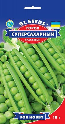 Горох Суперсахарный, пакет 10 г - Семена гороха, фото 2