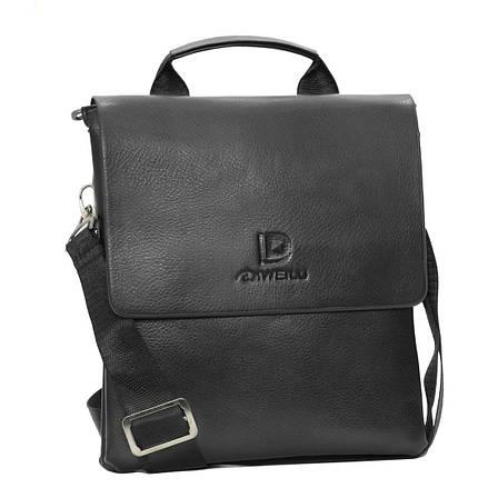 Мужская сумка мессенджер DIWEILU вертикальная 21х25х6 3 отдела м 0716-3ч, фото 2