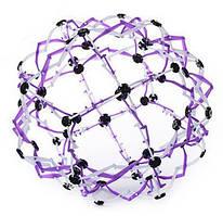 Сфера Хобермана Hoberman мини 11 см., шар трансформер, цвет - фиолетовый