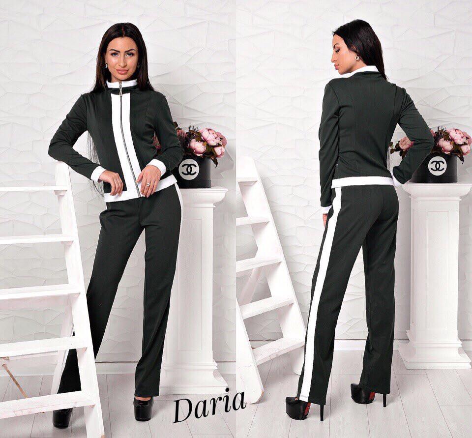 Костюм (брюки+пиджак) с лампасами.Ткань - джерси. р.С, M. код 8100Z