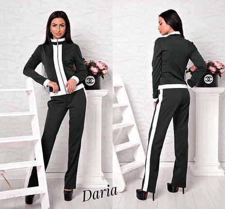 Костюм (брюки+пиджак) с лампасами.Ткань - джерси. р.С, M. код 8100Z, фото 2