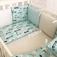 Комплект детского постельного белья Baby Design Гонщики (7 эл)