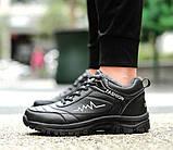 Меховые мужские кроссовки черные+белый, фото 4