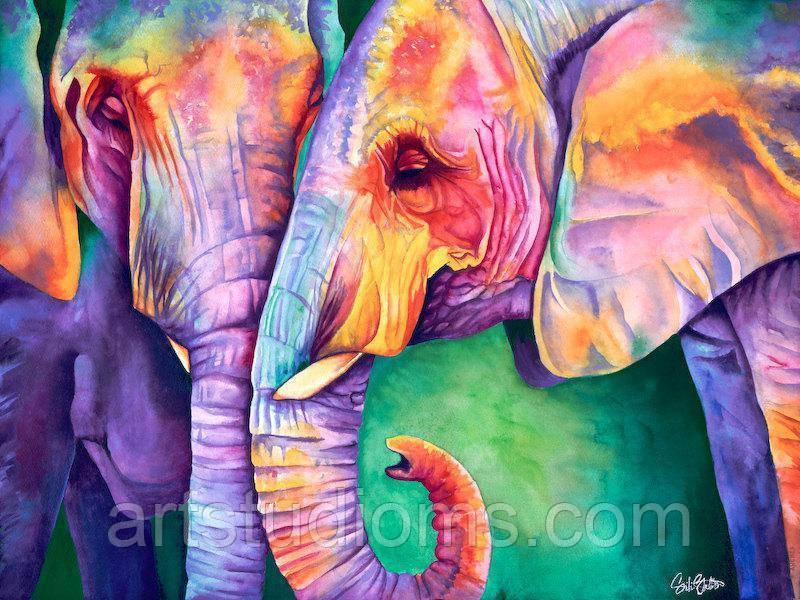 DIY Картина по номерам Краски Индии 40х50см, Без Коробки