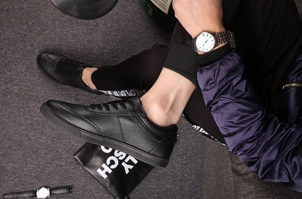 Кроссовки черные мужские легкие к лету