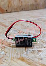 Вольтметр V20D цифровой постоянного тока 4,5-30V Красный (два провода)