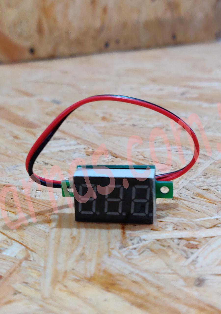 Вольтметр V20D цифровий постійного струму 4,5-30V Червоний (два проводи)