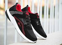 Удобные спортивные кроссовки с красной полосой, фото 1
